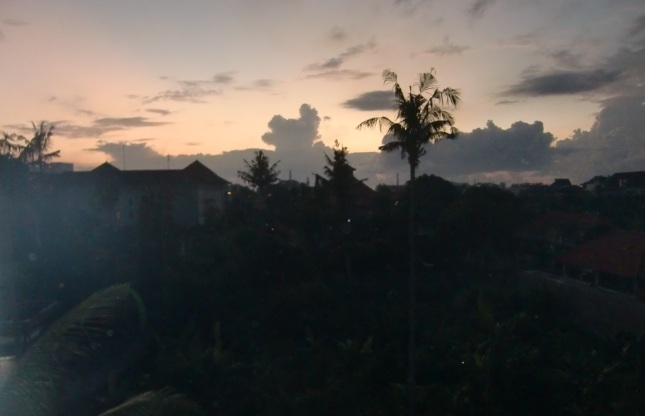 view from best western kuta beach hotel at 5 am